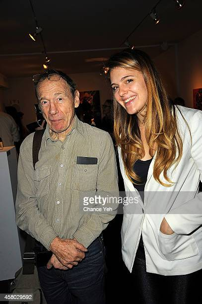 Anthony Hayden Guest and Laura O'Reilly attend Aelita Andre Exhibit Opening Night at Gallery 151 on October 28 2014 in New York City