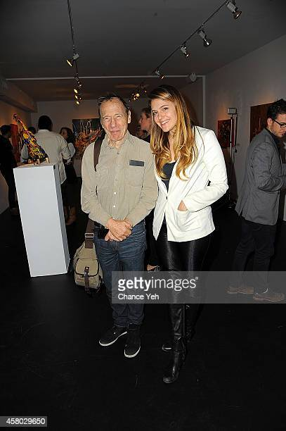 Anthony Hayden Guest and Laura O'Reilly attend Aelita Andre Exhibit Opening Night at Gallery 151 on October 28, 2014 in New York City.