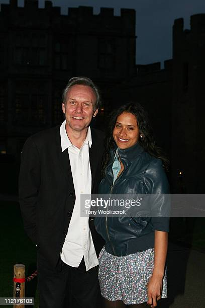 Anthony Head and Angel Coulby attend the launch of a new attraction based on the hit BBC One drama series at Warwick Castle on April 13 2011 in...