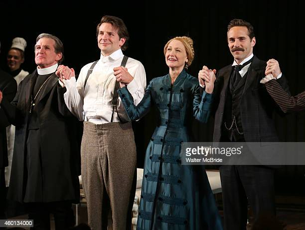 Anthony Heald Bradley Cooper Patricia Clarkson and Alessandro Nivola during the Broadway Opening Night Performance Curtain Call for 'The Elephant...