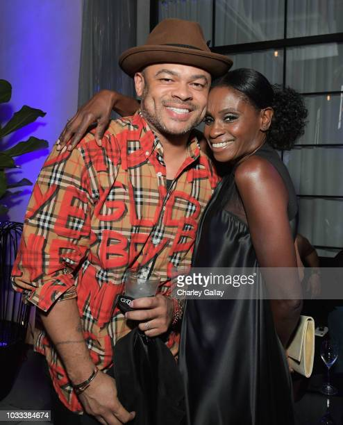 Anthony Hemingway and Adina Porter attend the Audi preEmmy celebration at the La Peer Hotel in West Hollywood on Friday September 14 2018
