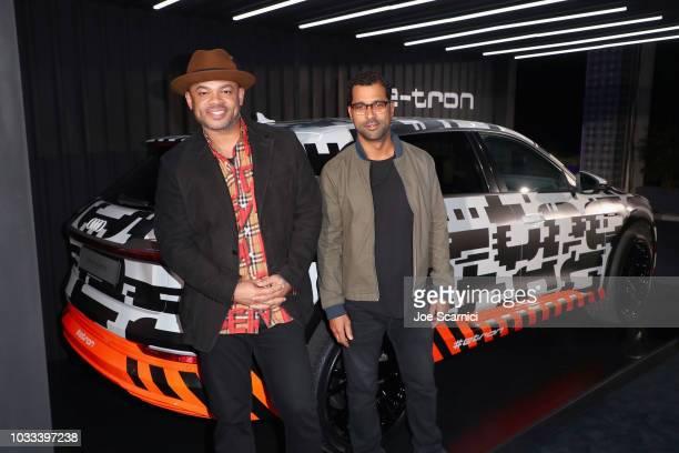 Anthony Hemingway and Ashoka Thomas attend the Audi preEmmy celebration at the La Peer Hotel in West Hollywood on Friday September 14 2018