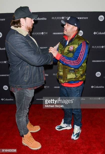 Anthony Hemingway and Tanner Beard arrive at Unsolved The Murders Of Tupac and The Notorious BIG at Inaugural Mammoth Film Festival Day 2 on February...
