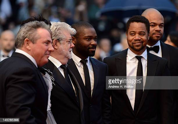 Anthony Hemingway David Oyelowo George Lucas and Cuba Gooding Jr and guest attend the 'Cosmopolis' premiere during the 65th Annual Cannes Film...
