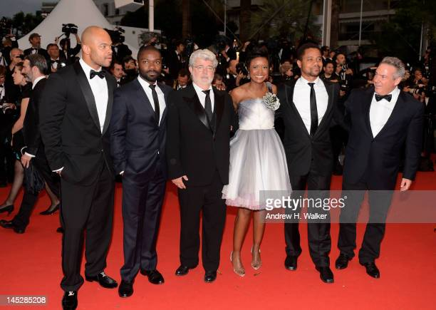 Anthony Hemingway David Oyelowo George Lucas Mellody Hobson Cuba Gooding Jr and guest attend the 'Cosmopolis' premiere during the 65th Annual Cannes...