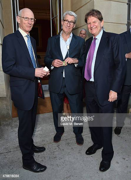 Anthony Hilton Jeremy Paxman and John Madejski attend the Bell Pottinger Summer Party at Lancaster House on June 10 2015 in London England