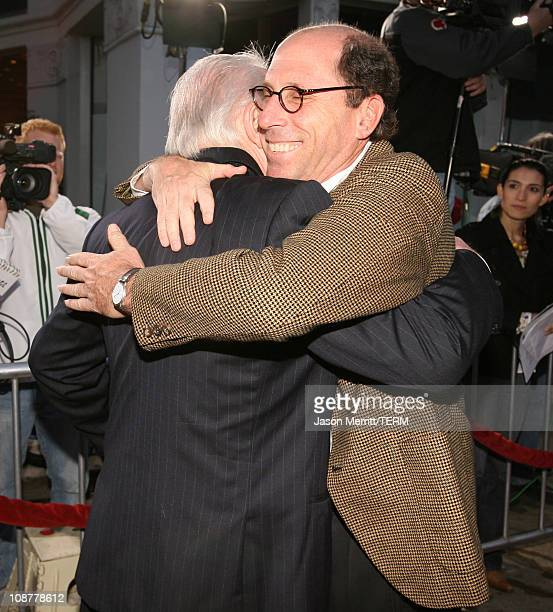 Anthony Hopkins and Charles Weinstock producer during Fracture Los Angeles Premiere Red Carpet at Mann Village Theater in Westwood California United...