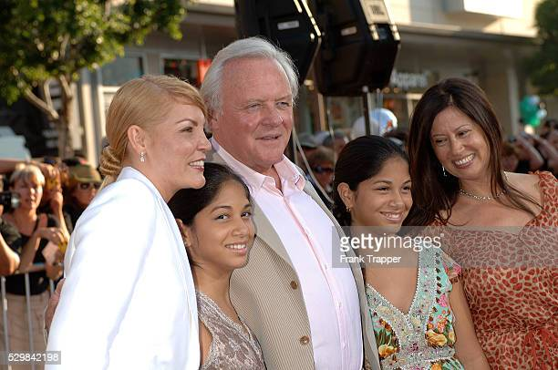 Anthony Hopkins and family arrive at the special fan premiere of 'War of the Worlds' held at the Chinese Theater in Hollywood
