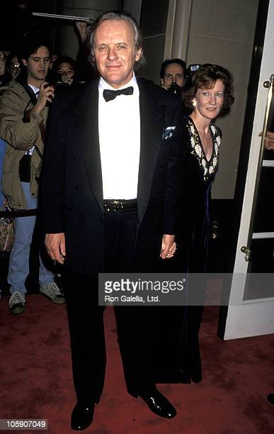 Anthony Hopkins and Jennifer Lynton during 5th Annual Britannia Award from BAFTA at Beverly Wilshire Hotel in Beverly Hills California United States