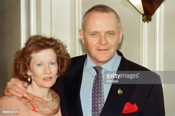 Anthony Hopkins and wife Jennifer Lynton at the Variety Club Show Business awards 1st February 1994