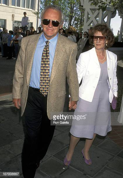 Anthony Hopkins and Wife Jennifer Lynton during Anthony Hopkins Sighting at the British Academy of Film Television Arts Tea by the Sea March 23 1996...