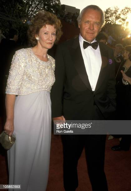 Anthony Hopkins and Wife Jennifer Lynton during The 68th Annual Academy Awards at Dorothy Chandler Pavilion in Los Angeles California United States