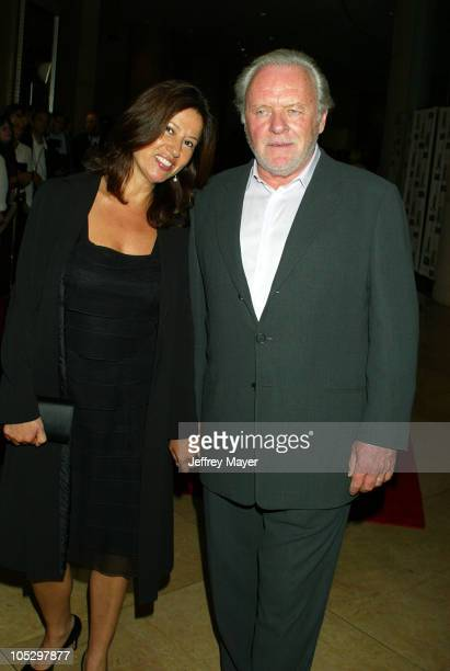 Anthony Hopkins and wife Stella Hopkins during 2003 Hollywood Awards Gala Ceremony Arrivals at Beverly Hilton Hotel in Beverly Hills California...