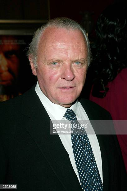 Anthony Hopkins arriving at the Red Dragon world premiere at the Ziegfeld Theatre in New York City September 30 2002 Photo by Evan Agostini/Getty...