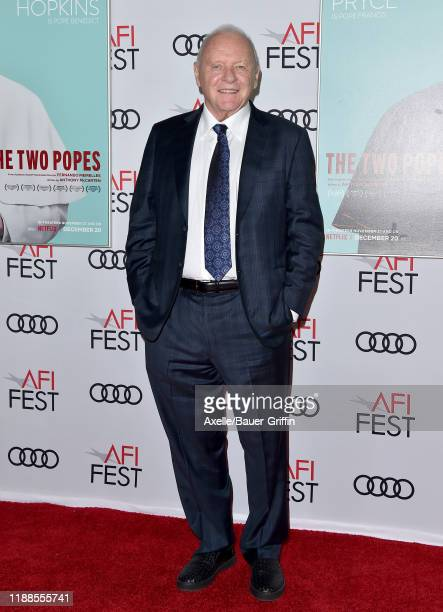 Anthony Hopkins attends the The Two Popes premiere during AFI FEST 2019 presented by Audi at TCL Chinese Theatre on November 18 2019 in Hollywood...