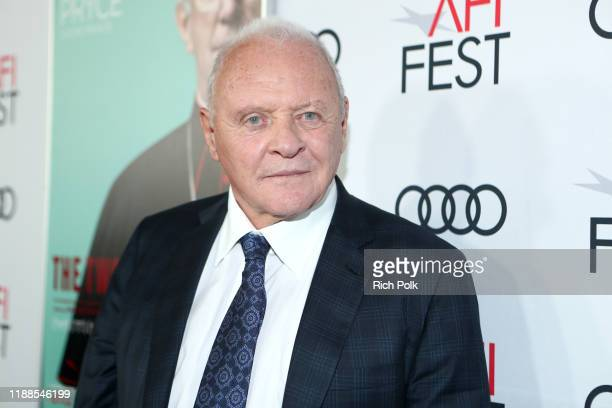 Anthony Hopkins attends The Two Popes Gala Event at TCL Chinese Theatre on November 18 2019 in Hollywood California