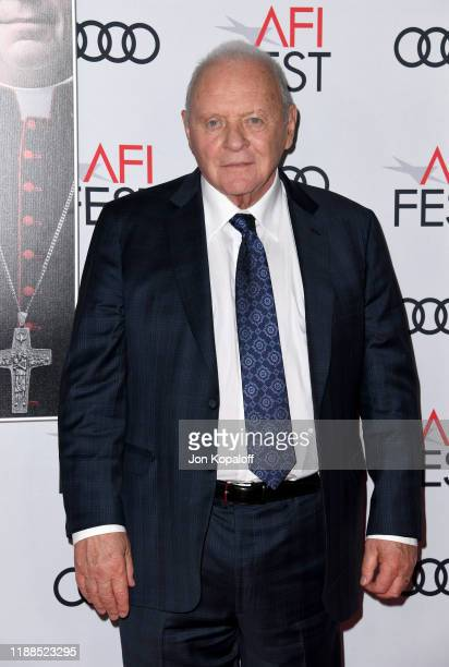 Anthony Hopkins attends The Two Popes premiere during AFI FEST 2019 presented by Audi at TCL Chinese Theatre on November 18 2019 in Hollywood...