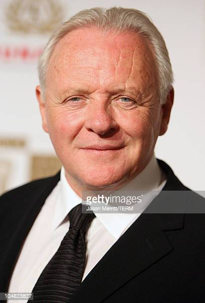 Anthony Hopkins during 2005 BAFTA/LA Cunard Britannia Awards Arrivals at Beverly Hilton Hotel in Beverly Hills California United States