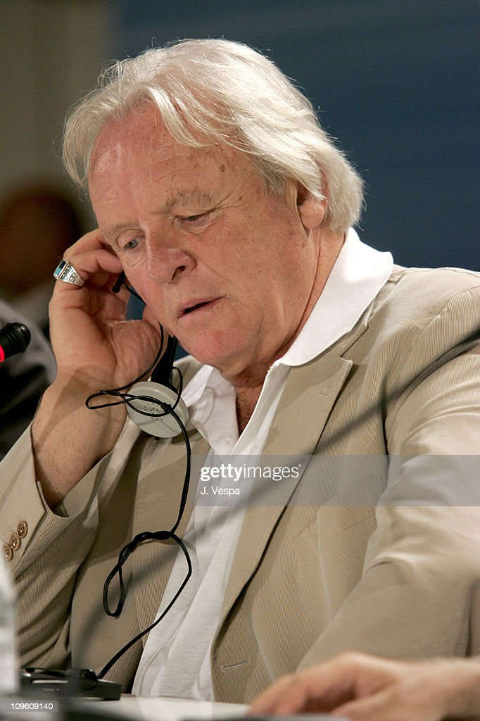 Anthony Hopkins during 2005 Venice Film Festival - 'Proof' Press Conference at Casino Palace in Venice Lido, Italy.