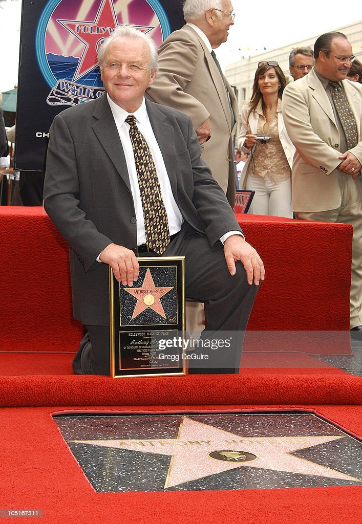 Anthony Hopkins during Anthony Hopkins Honored With A Star On The Hollywood Walk Of Fame at Hollywood Blvd. in Hollywood, California, United States.