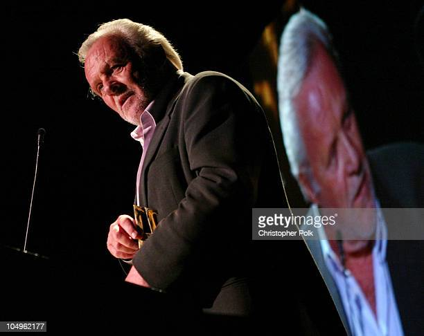 Anthony Hopkins during Hollywood Awards Gala Ceremony Show and Backstage at The Beverly Hilton Hotel in Beverly Hills California United States