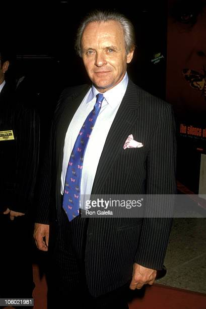 Anthony Hopkins during Silence of the Lambs Century City Premier Red Carpet at Cineplex Odeon Cinemas in Century City California United States