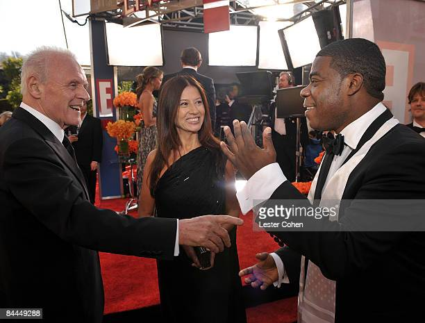 Anthony Hopkins guest and Tracy Morgan arrive to the TNT/TBS broadcast of the 15th Annual Screen Actors Guild Awards at the Shrine Auditorium on...