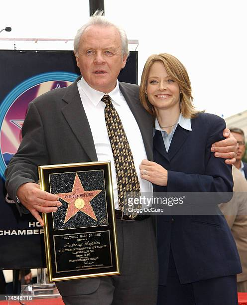 Anthony Hopkins Jodie Foster during Anthony Hopkins Honored With A Star On The Hollywood Walk Of Fame at Hollywood Blvd in Hollywood California...