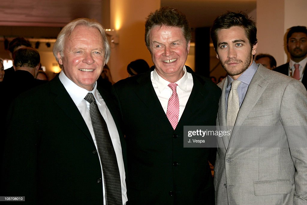 Anthony Hopkins, John Madden and Jake Gyllenhaal during 2005 Venice Film Festival - 'Proof' Premiere - Inside at Palazzo del Cinema in Venice Lido, Italy.