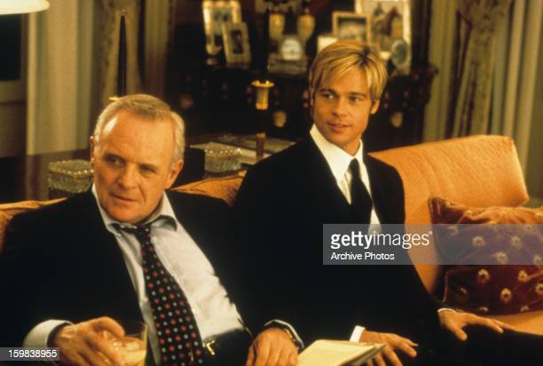 Anthony Hopkins on the couch Brad Pitt in a scene from the film 'Meet Joe Black' 1998