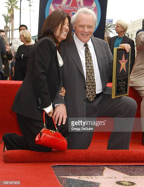 Anthony Hopkins Wife Stella during Anthony Hopkins Honored With A Star On The Hollywood Walk Of Fame at Hollywood Blvd in Hollywood California United...