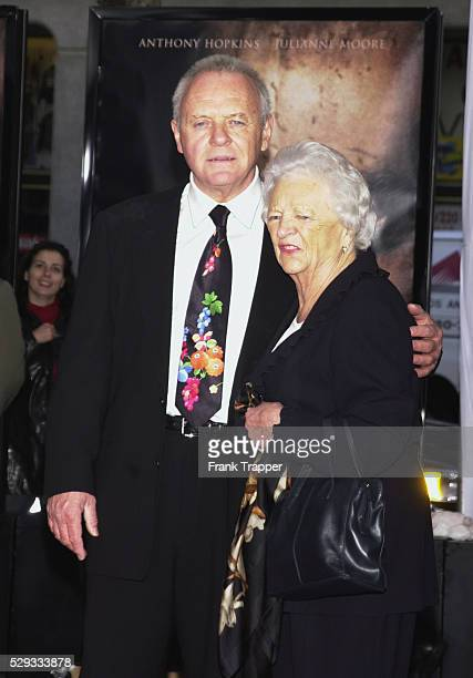 Anthony Hopkins with his mother