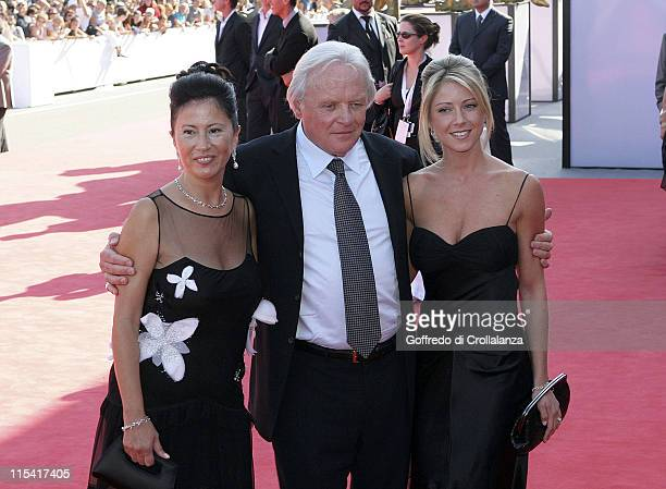 Anthony Hopkins with his wife and daughter Stella Hopkins