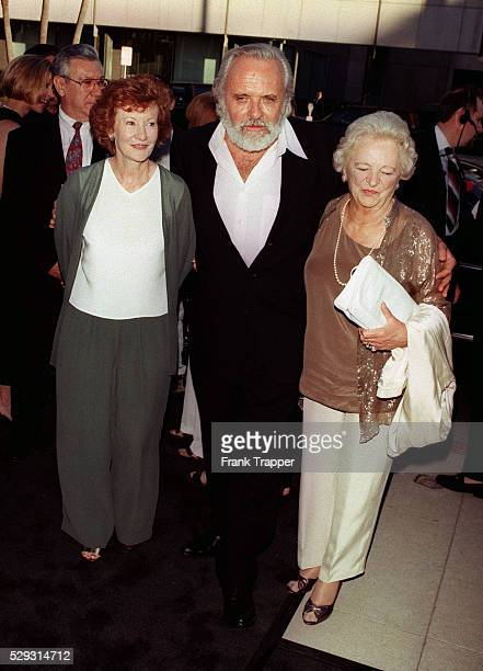 Anthony Hopkins with his wife Jenny and mother Muriel