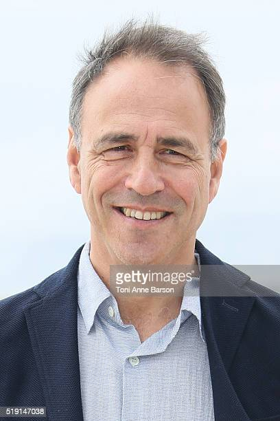 Anthony Horowitz attends 'New Blood' Photocall as part of MIPTV 2016 on April 4 2016 in Cannes France