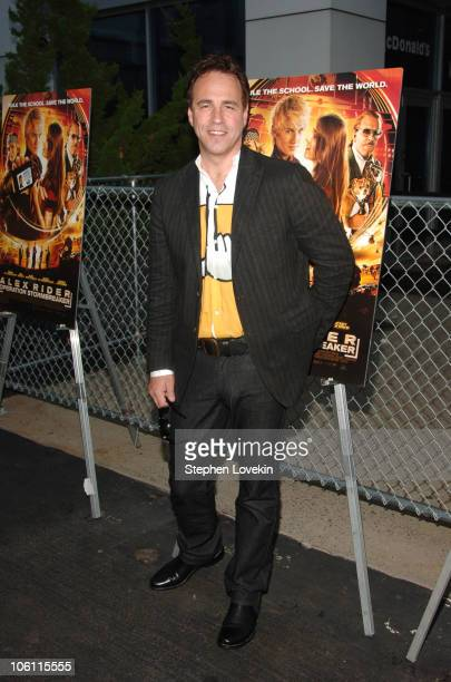 Anthony Horowitz author and screenwriter during New York Premiere of 'Alex Rider Operation Stormbreaker' at The Intrepid Sea Air Space Museum in New...