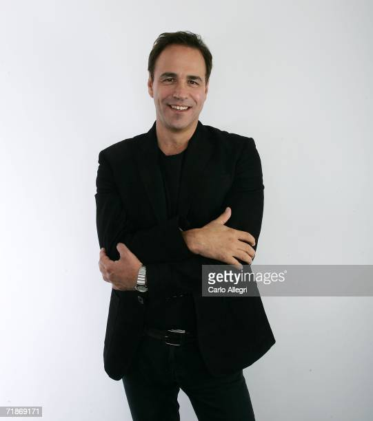 Anthony Horowitz of the film Alex Rider Operation Stormbreaker poses for portraits in the Chanel Celebrity Suite at the Four Season hotel during the...