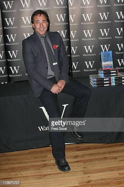 Anthony Horowitz the bestselling author signs copies of Snakehead the next in the popular Alex Rider series at Waterstones on Piccadilly on October...