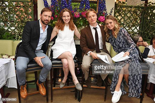 Anthony Howell Morfydd Clark Freddie Fox and Cressida Bonas perform sonnets that have inspired them as actors on the stunning terrace at Mark's Club...