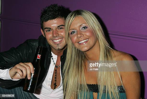 Anthony Hutton and friend at the the party of the Nominations and launch of the 2005 MOBO Awards at the Connaught Rooms on August 24 2005 in London...