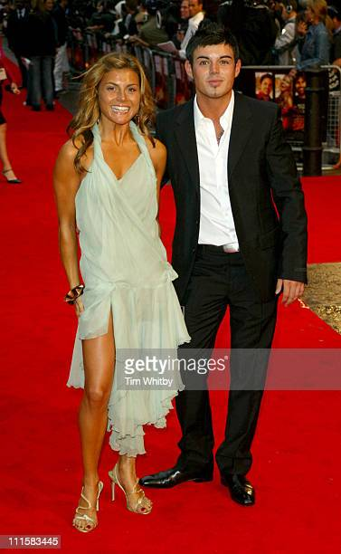 Anthony Hutton and Guest during 'The Dukes of Hazzard' London Premiere Outside Arrivals at Vue Leicester Square in London Great Britain