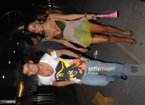 Anthony Hutton Big Brother winner 2005 and guest during Jade Goody's Salon Launch Party at Embassy Club in London Great Britain