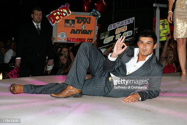 Anthony Hutton during 'Big Brother 6' UK Grand Finale at Elstree Studios in London Great Britain