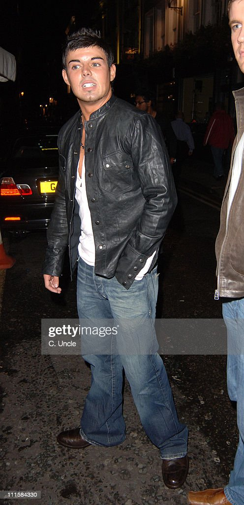Celebrity Departures from China White's in London - August 24, 2005