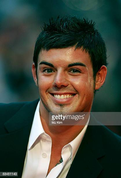 Anthony Hutton from Big Brother arrives at the UK premiere of new film 'The Dukes Of Hazzard' at Vue Leicester Square on August 22 2005 in London...