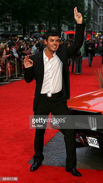 Anthony Hutton from Big Brother arrives at the UK premiere of the new film 'The Dukes Of Hazzard' at Vue Leicester Square on August 22 2005 in London...