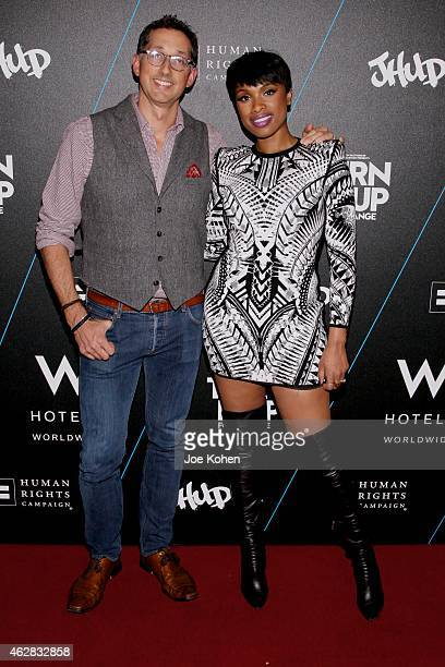 Anthony Ingham and Jennifer Hudson attends Turn It Up For Change ball to benefit HRC at W Hollywood on February 5 2015 in Hollywood California