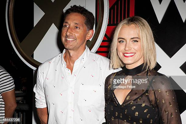 Anthony Ingham and Taylor Schilling attend All Aboard W Hotels Toasts The Upcoming Opening Of W Amsterdam at Grand Banks on August 18 2015 in New...