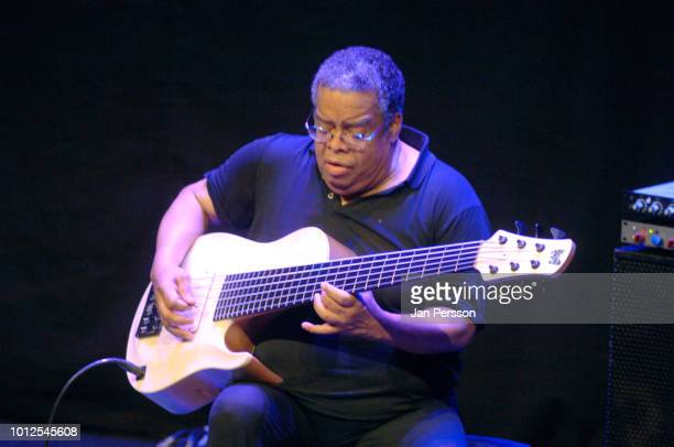 Anthony Jackson American electric bass player member of Hiromi The Trio Project performing at Copenhagen Jazz Festival Denmark 9 July 2014