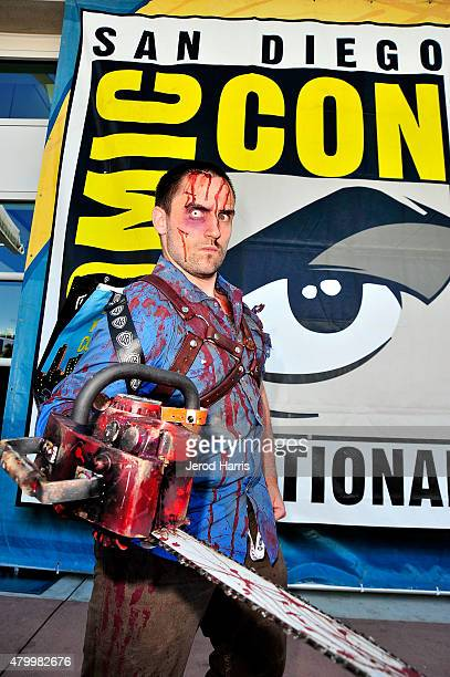 Anthony James Buell dressed in cosplay for preview night at ComicCon International 2015 on July 8 2015 in San Diego California